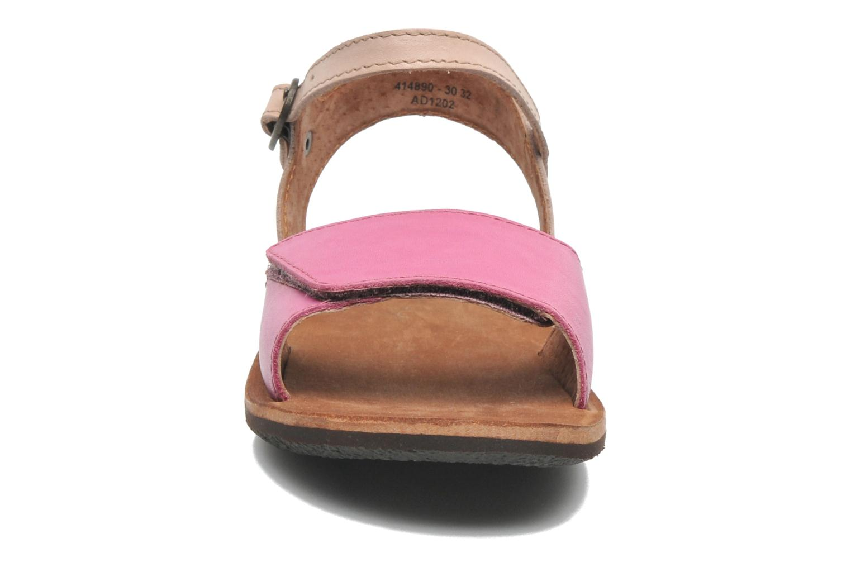 Sandalen Kickers SPARTINY rosa schuhe getragen