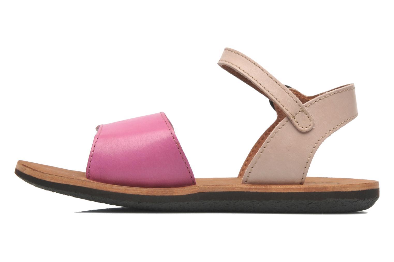 Sandalen Kickers SPARTINY rosa ansicht von vorne
