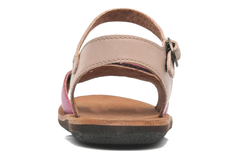 Sandalen Kickers SPARTINY rosa ansicht von rechts