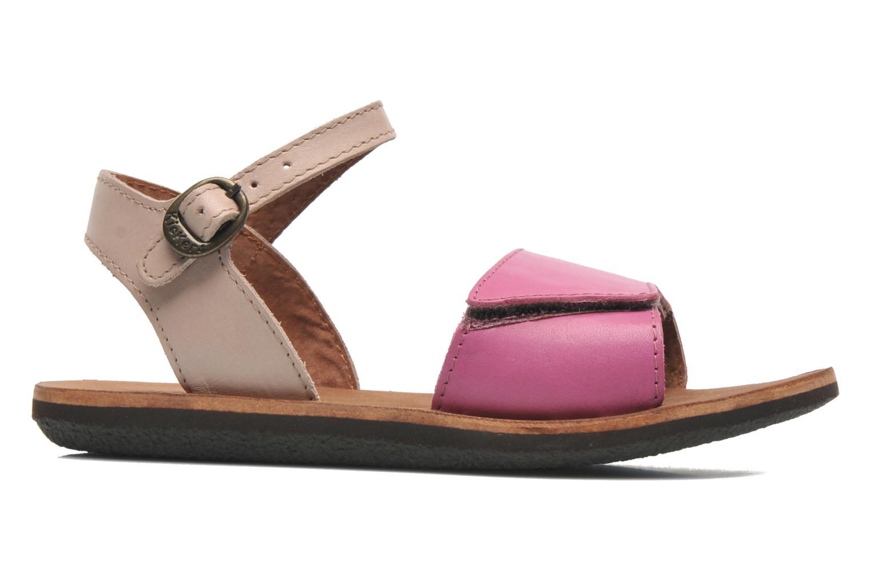 Sandalen Kickers SPARTINY rosa ansicht von hinten