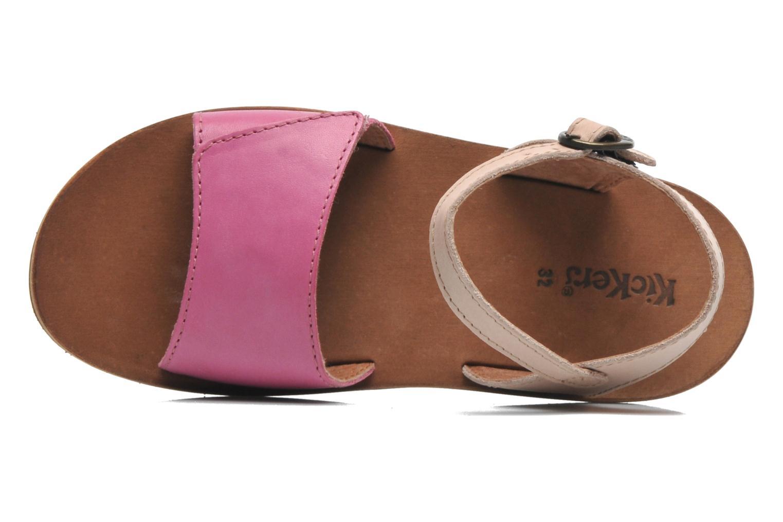 Sandalen Kickers SPARTINY rosa ansicht von links