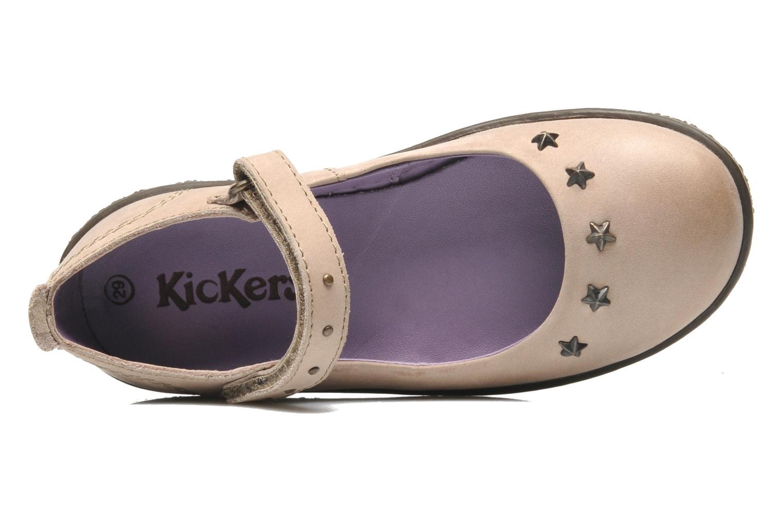 Ballerinas Kickers VENUS beige ansicht von links