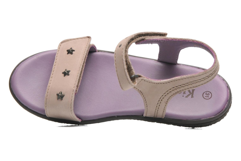 Sandales et nu-pieds Kickers VENICE1 Beige vue gauche