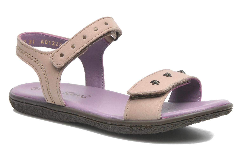 Sandales et nu-pieds Kickers VENICE1 Beige vue détail/paire