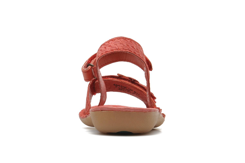 Sandales et nu-pieds Kickers EVANA Rouge vue droite