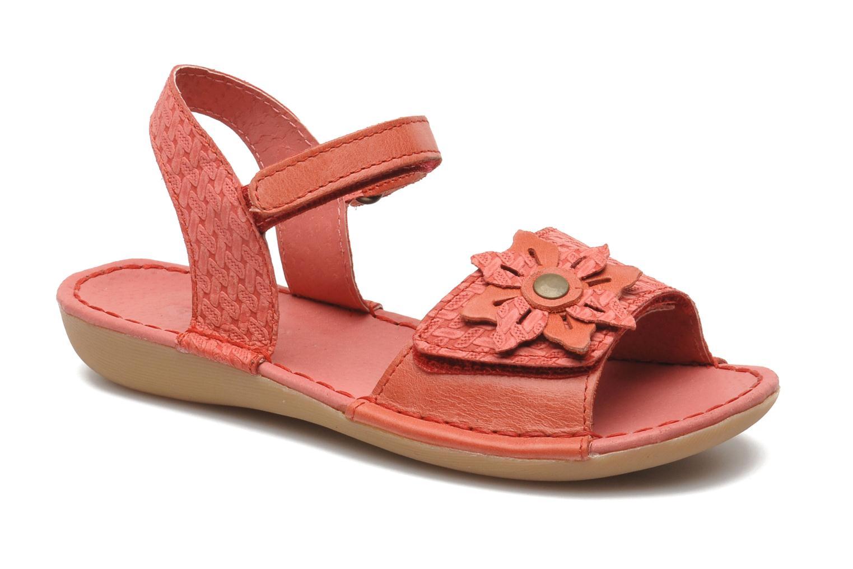 Sandales et nu-pieds Kickers EVANA Rouge vue détail/paire
