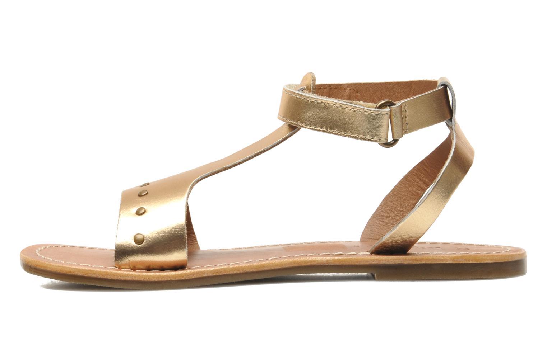 Sandalen Kickers DIZAINE V gold/bronze ansicht von vorne
