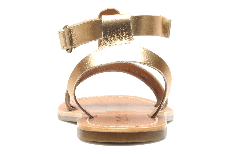 Sandales et nu-pieds Kickers DIZAINE V Or et bronze vue droite