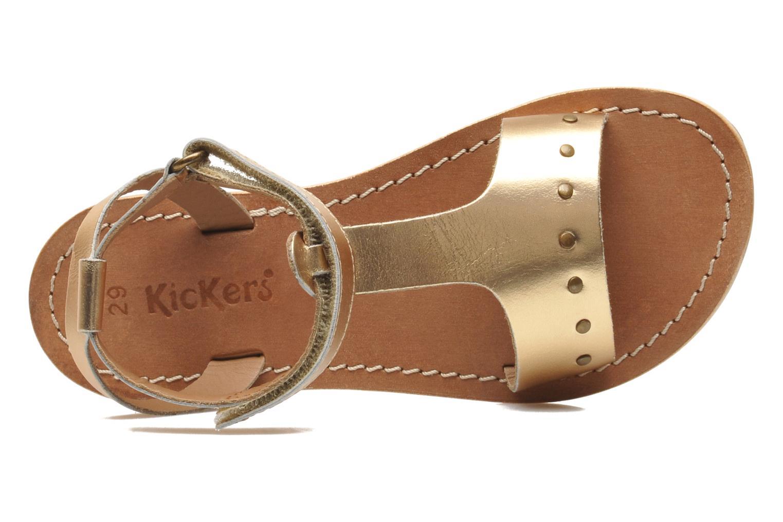 Sandales et nu-pieds Kickers DIZAINE V Or et bronze vue gauche