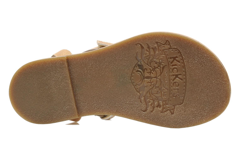 Sandales et nu-pieds Kickers DIZAINE V Or et bronze vue haut