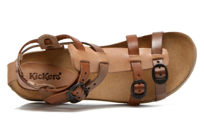 Sandales et nu-pieds Kickers BOMDIA Marron vue gauche