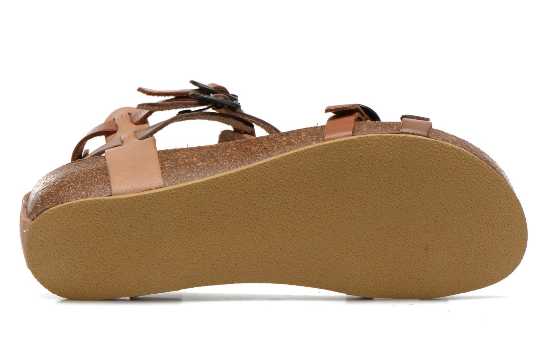 Sandales et nu-pieds Kickers BOMDIA Marron vue haut