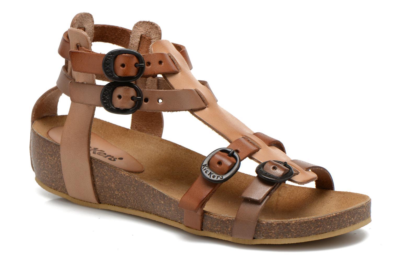 Sandales et nu-pieds Kickers BOMDIA Marron vue détail/paire