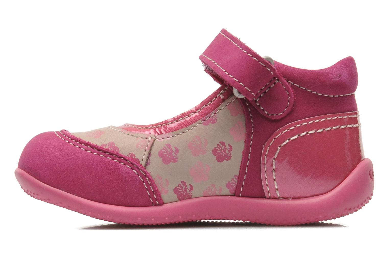 Ballerinas Kickers BIKIFLEUR rosa ansicht von vorne