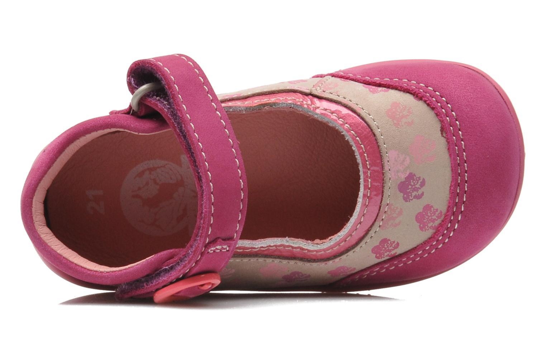 Ballerinas Kickers BIKIFLEUR rosa ansicht von links