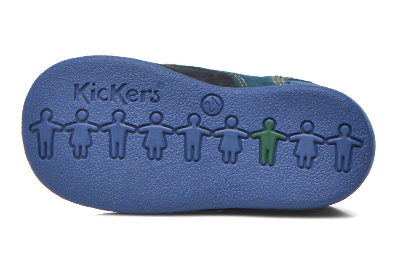 Botines  Kickers Babystan Azul vista de arriba