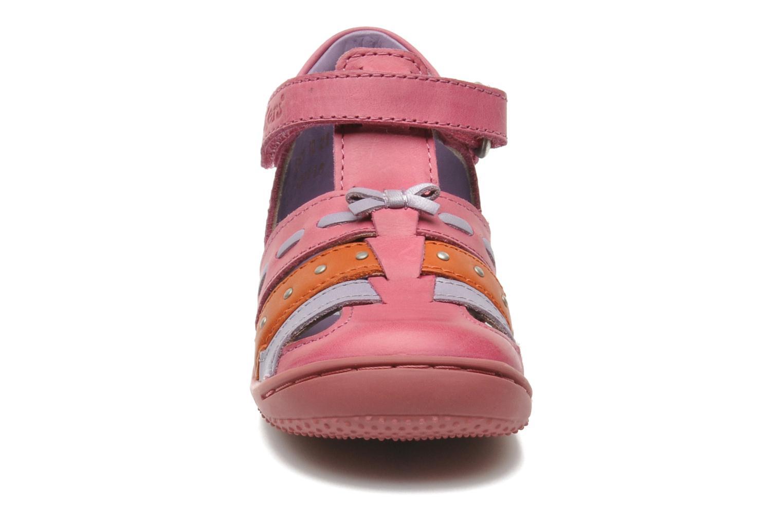 mit Klettverschluss Kickers GIULIA rosa schuhe getragen