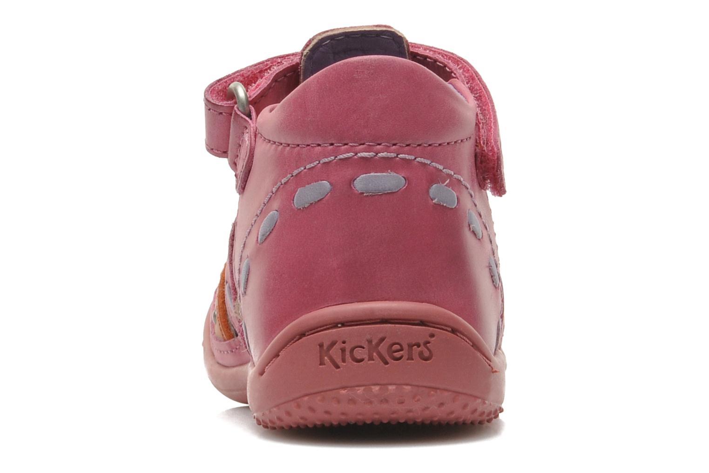 mit Klettverschluss Kickers GIULIA rosa ansicht von rechts