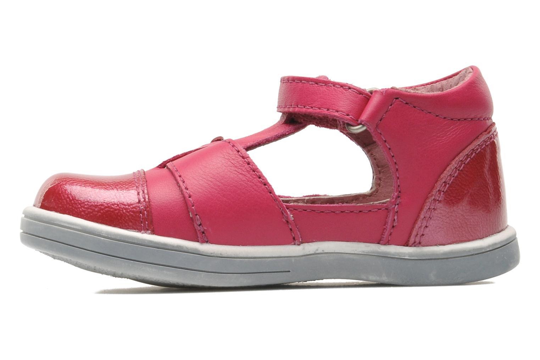 mit Klettverschluss Kickers TREFUN rosa ansicht von vorne