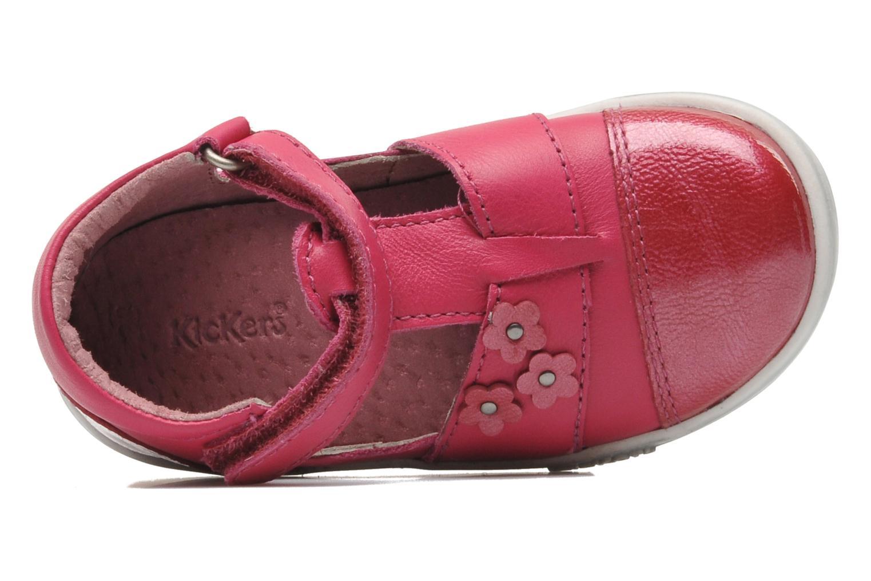 mit Klettverschluss Kickers TREFUN rosa ansicht von links