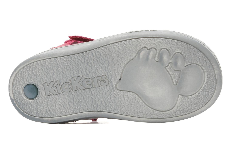 mit Klettverschluss Kickers TREFUN rosa ansicht von oben