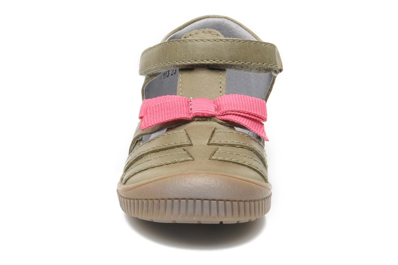 Chaussures à scratch Kickers NOVELLA Vert vue portées chaussures
