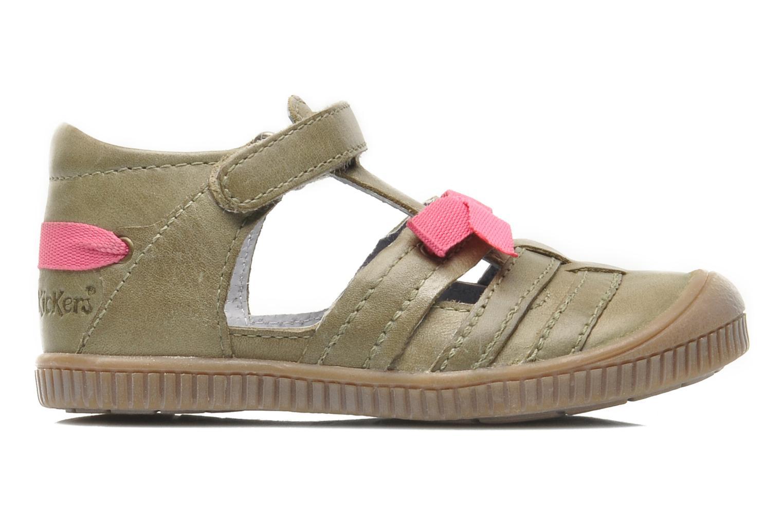Chaussures à scratch Kickers NOVELLA Vert vue derrière