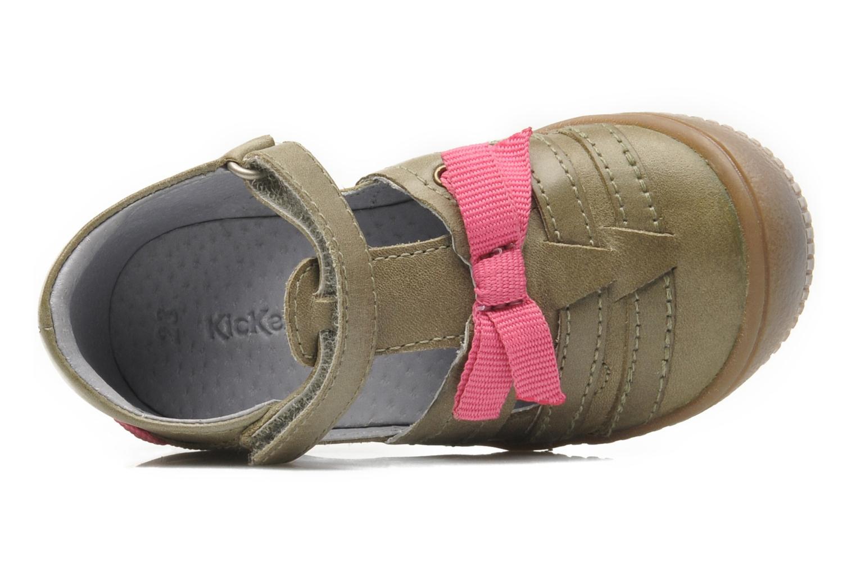 Chaussures à scratch Kickers NOVELLA Vert vue gauche