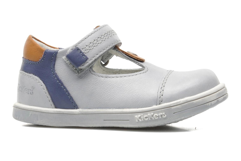Schoenen met klitteband Kickers TROPICO Grijs achterkant
