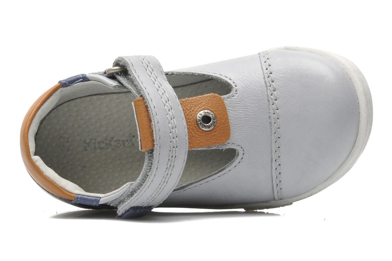 Schoenen met klitteband Kickers TROPICO Grijs links