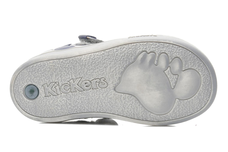 Schoenen met klitteband Kickers TROPICO Grijs boven