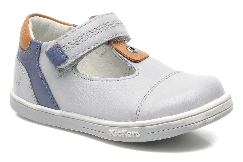 Schoenen met klitteband Kickers TROPICO Grijs detail