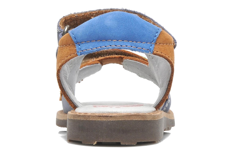 Sandalen Kickers YUKI braun ansicht von rechts