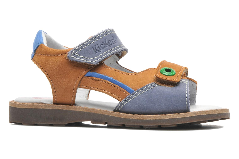 Sandalen Kickers YUKI braun ansicht von hinten