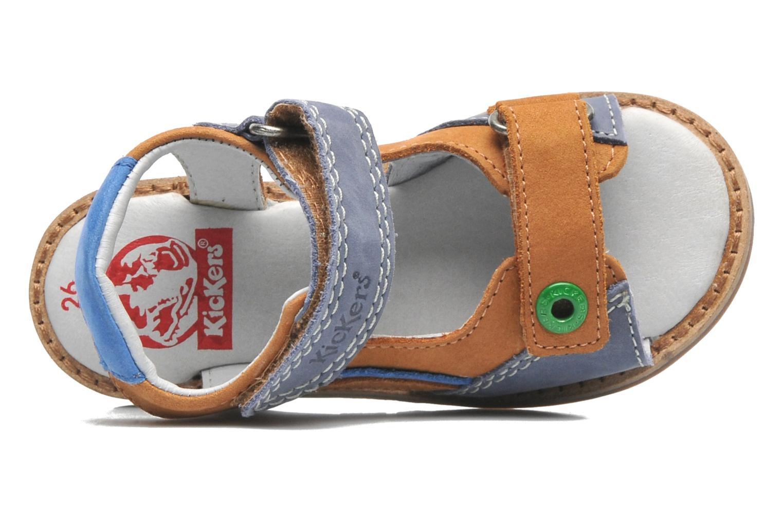 Sandalen Kickers YUKI braun ansicht von links