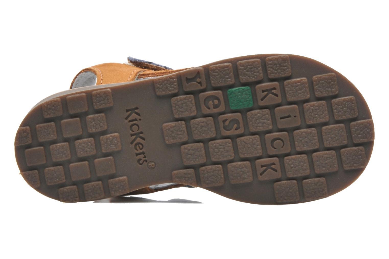 Sandalen Kickers YUKI braun ansicht von oben