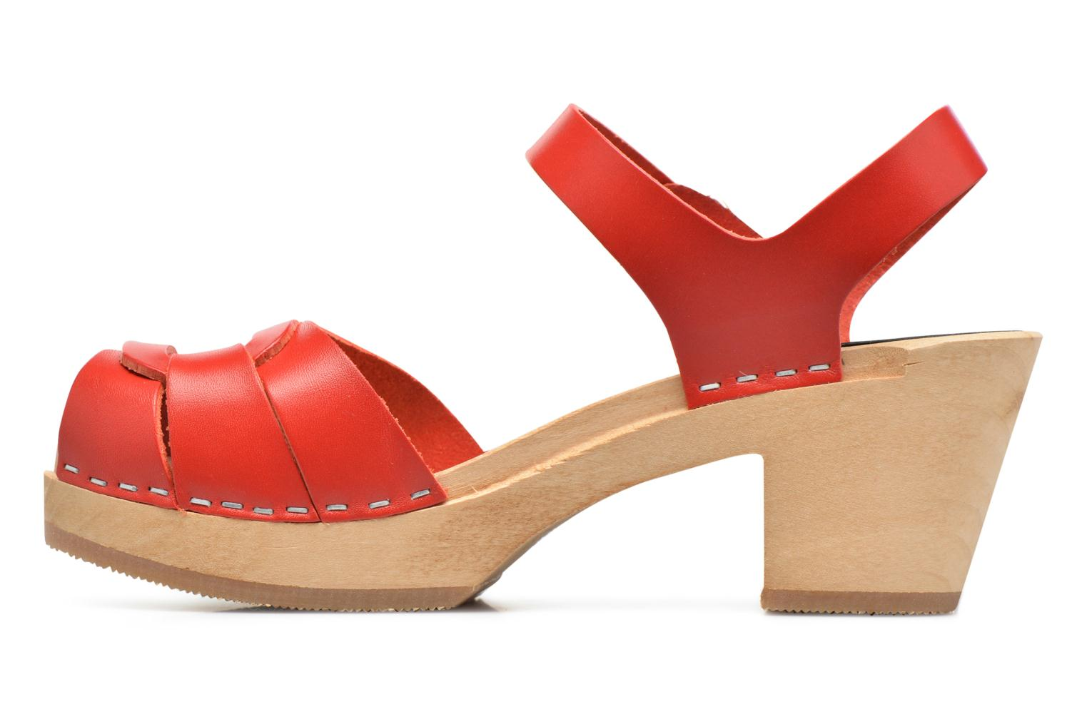 Sandales et nu-pieds Swedish Hasbeens Peep Toe High Rouge vue face