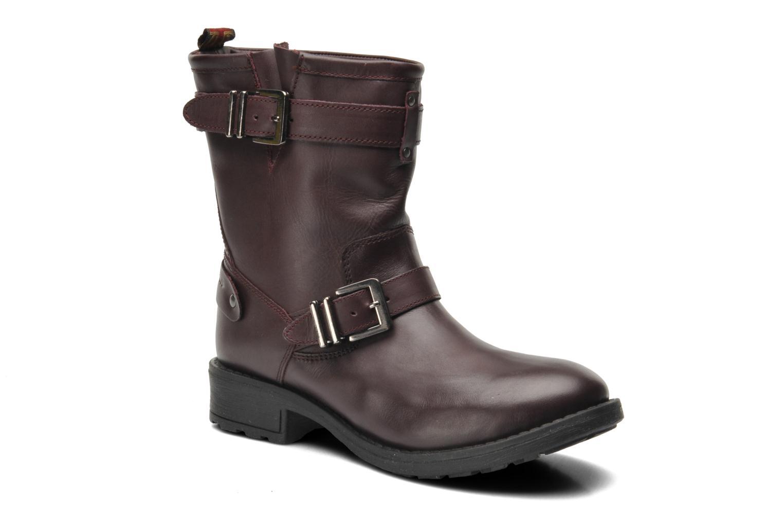 Bottines et boots Pepe jeans Pimlico Basic Bordeaux vue détail/paire
