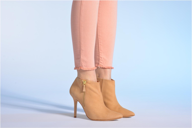 Bottines et boots Made by SARENZA Roudoudou #13 Beige vue bas / vue portée sac