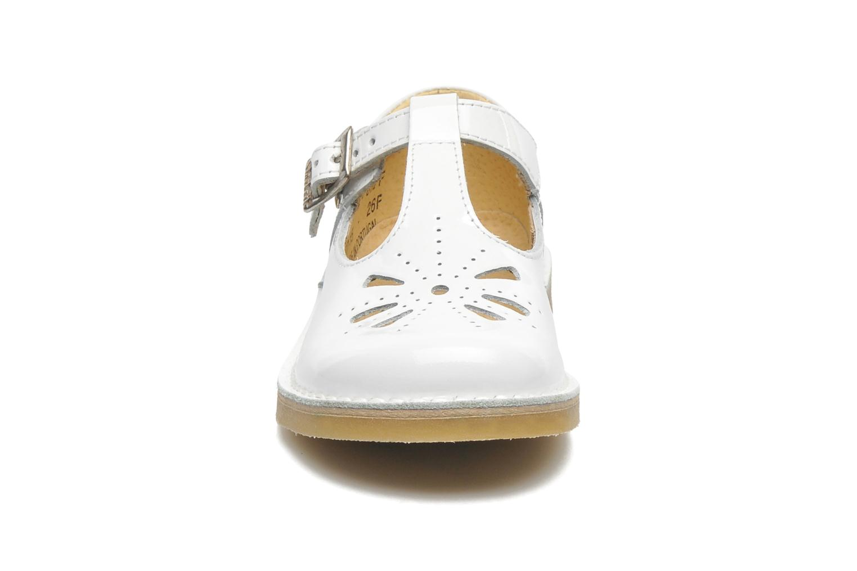 Ballerines Start Rite tea party Blanc vue portées chaussures