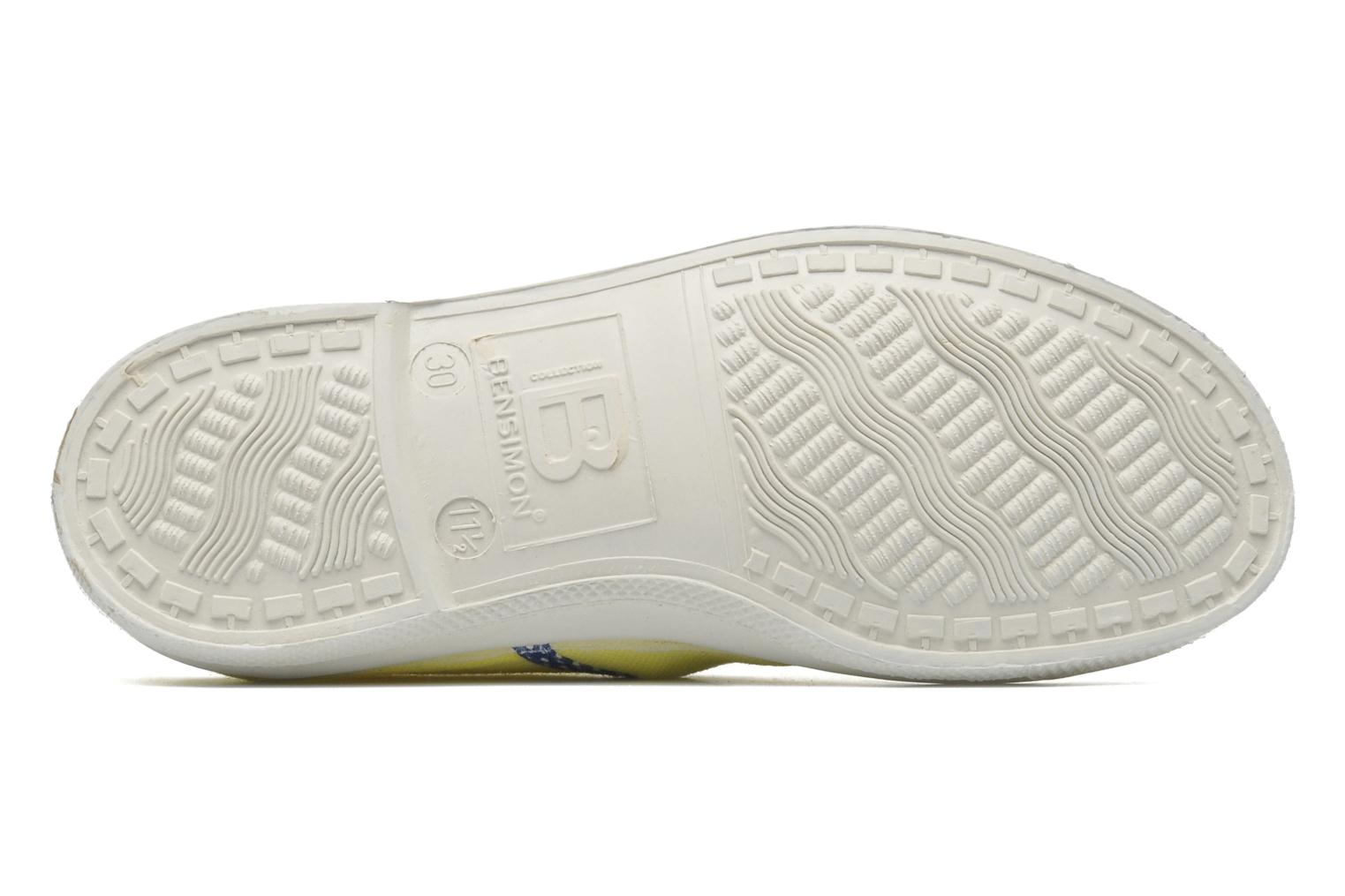 Trainers Bensimon Tennis Colorpois E Yellow view from above