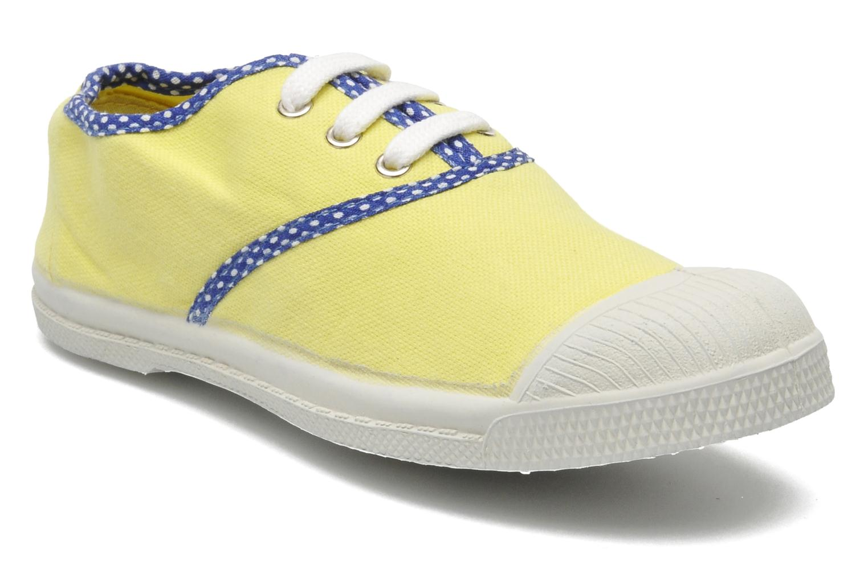 Trainers Bensimon Tennis Colorpois E Yellow detailed view/ Pair view