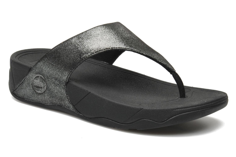Zehensandalen FitFlop Lulu Shimmersuede silber detaillierte ansicht/modell