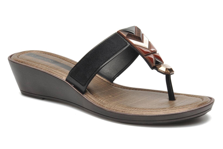 Slippers Grendha Tesouros Wedge Zwart detail