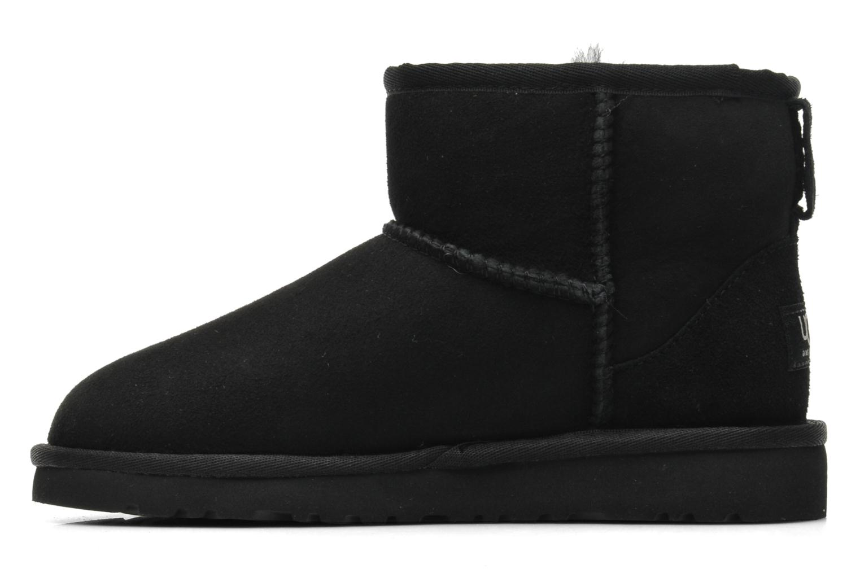 Stiefeletten & Boots UGG K CLASSIC MINI schwarz ansicht von vorne