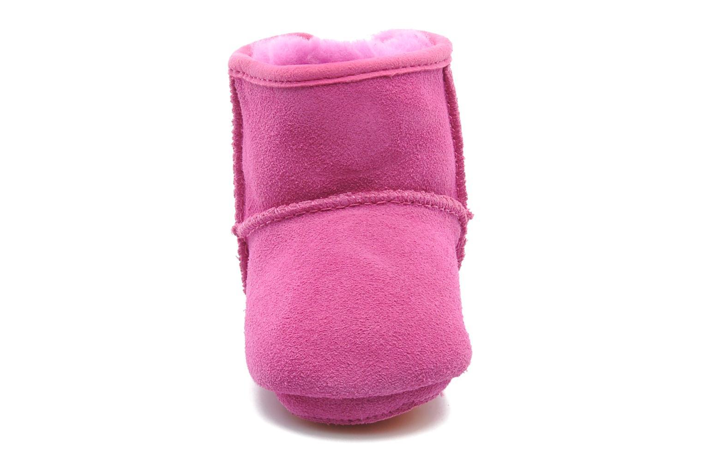 Bottines et boots UGG I JESSE BOW Rose vue portées chaussures