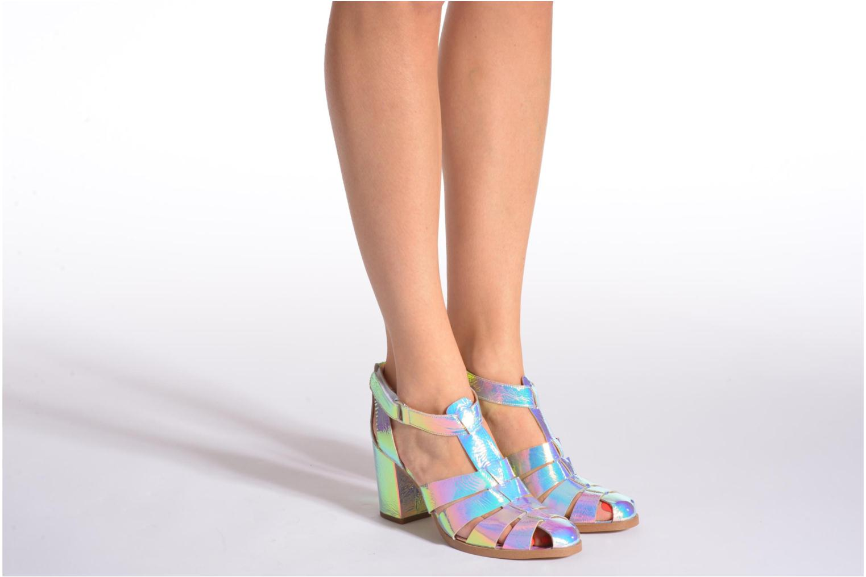 Sandales et nu-pieds Made by SARENZA Menthe Hello #2 Multicolore vue bas / vue portée sac