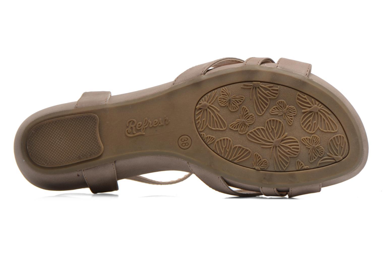 Sandalen Refresh Talla-60574 braun ansicht von oben