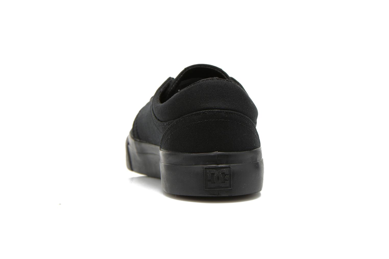 Baskets DC Shoes Trase Tx Noir vue droite