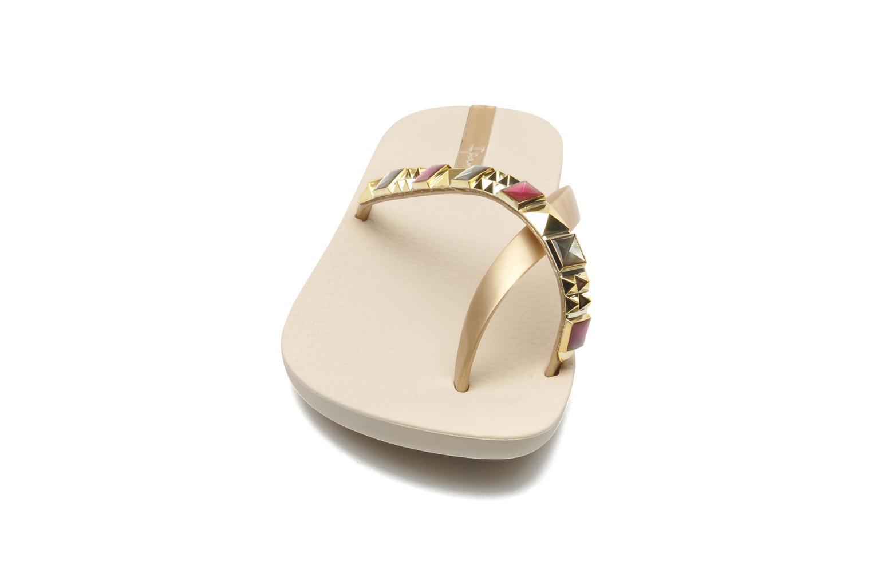 Zehensandalen Ipanema Mix Glam II beige schuhe getragen